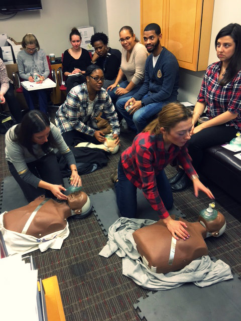 CPW team members get hands-on experience at our CPR training.