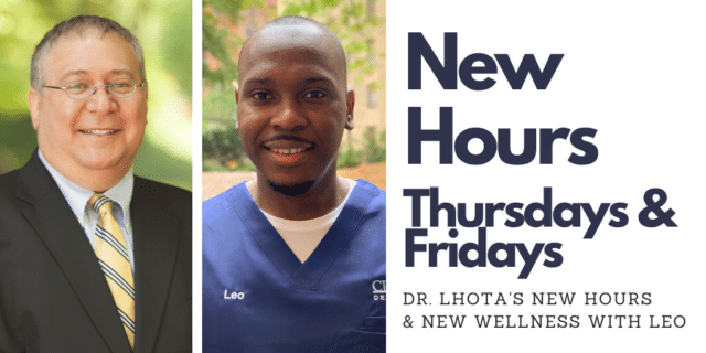 Dr. Lhota's new hours