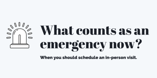 What counts as an emergency now?