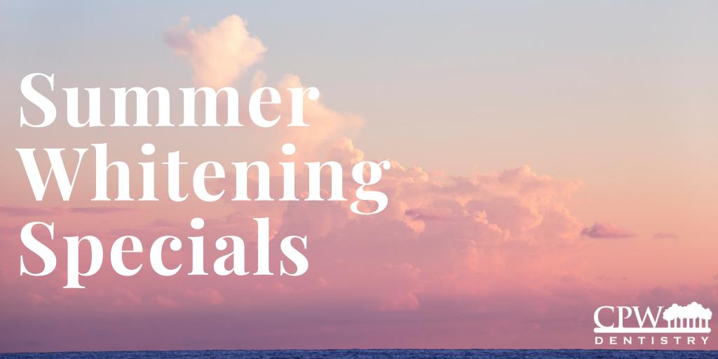 Summer whitening specials